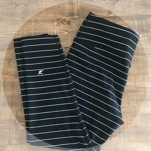 Pants - > Glydr Apparel - Black / White Pinstripe Tight <